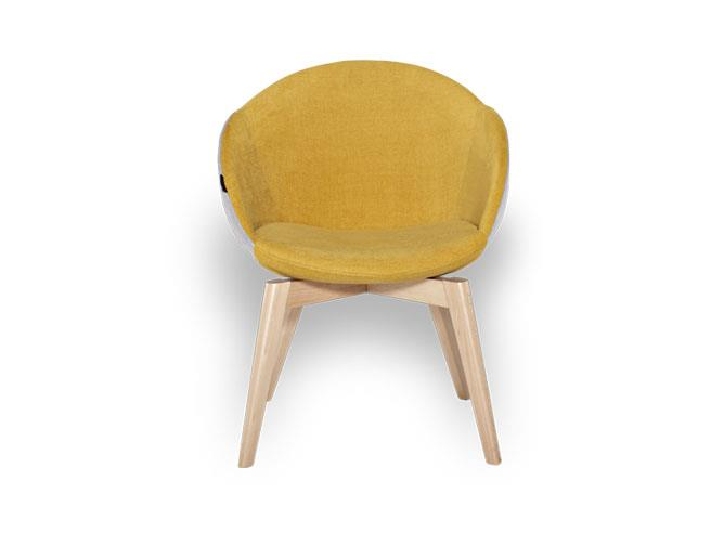 Clode a unique yellow chair suitable for all users.